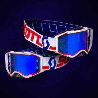 2018 Scott Prospect Goggles - Red White Electric Blue Chrome Image 2