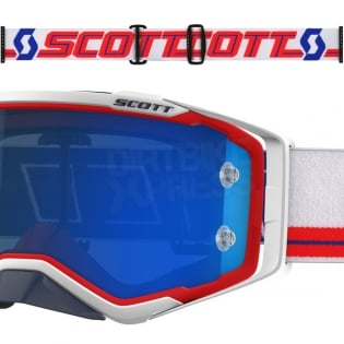 2018 Scott Prospect Goggles - Red White Electric Blue Chrome Image 3