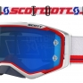 2018 Scott Prospect Goggles - Red White Electric Blue Chrome