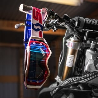 2018 Scott Prospect Goggles - Red White Electric Blue Chrome Image 4