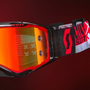 2018 Scott Prospect Goggles - Red Black Orange Chrome Image 2