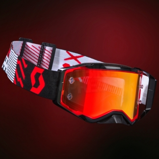 2018 Scott Prospect Goggles - Red Black Orange Chrome Image 4