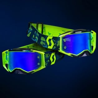 2018 Scott Prospect Goggles - Yellow Blue Electric Blue Chrome Image 2
