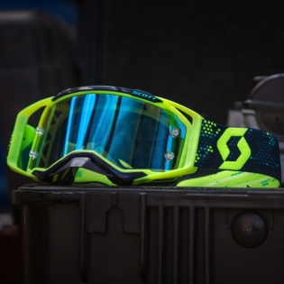2018 Scott Prospect Goggles - Yellow Blue Electric Blue Chrome Image 4