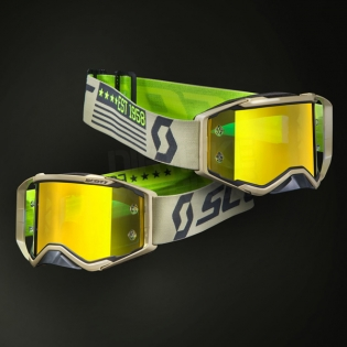 2018 Scott Prospect Goggles - Grey Beige Yellow Chrome Image 2