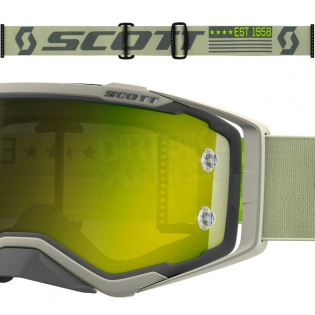 2018 Scott Prospect Goggles - Grey Beige Yellow Chrome Image 3