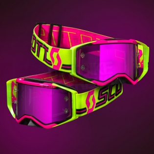2018 Scott Prospect Goggles - Pink Yellow Purple Chrome Image 2
