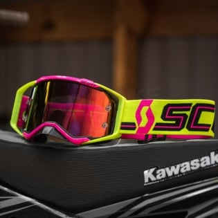 2018 Scott Prospect Goggles - Pink Yellow Purple Chrome Image 4