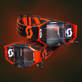 2018 Scott Prospect WFS Goggles - Black Orange Clear Image 2