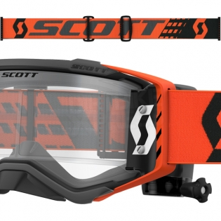 2018 Scott Prospect WFS Goggles - Black Orange Clear Image 3