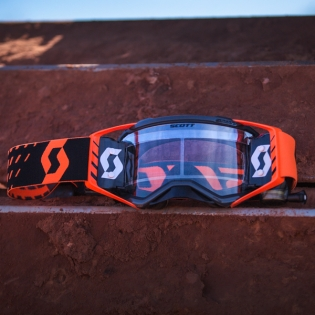 2018 Scott Prospect WFS Goggles - Black Orange Clear Image 4