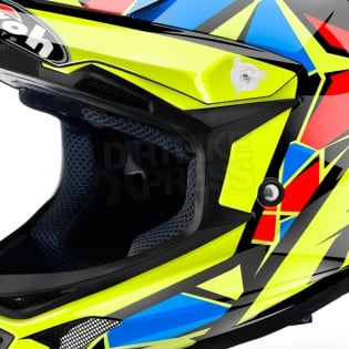 2018 Airoh Archer Junior Kids Helmet - Chief Blue Gloss Image 2