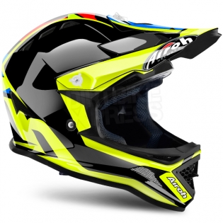 2018 Airoh Archer Junior Kids Helmet - Chief Blue Gloss Image 3
