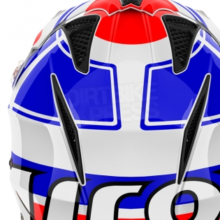 2018 Airoh TRR Trials Helmet - Wintage Red White Blue Gloss Image 3