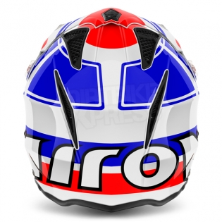 2018 Airoh TRR Trials Helmet - Wintage Red White Blue Gloss Image 4