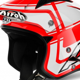 2018 Airoh TRR Trials Helmet - Wintage Red White Gloss Image 2