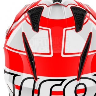 2018 Airoh TRR Trials Helmet - Wintage Red White Gloss Image 3