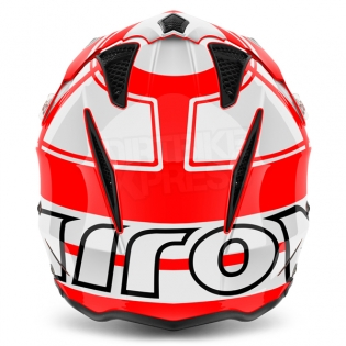 2018 Airoh TRR Trials Helmet - Wintage Red White Gloss Image 4