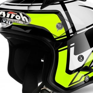 2018 Airoh TRR Trials Helmet - Wintage Black Yellow Gloss Image 2