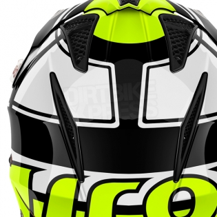 2018 Airoh TRR Trials Helmet - Wintage Black Yellow Gloss Image 3