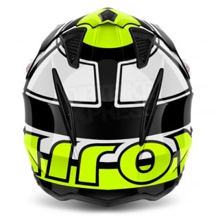 2018 Airoh TRR Trials Helmet - Wintage Black Yellow Gloss Image 4