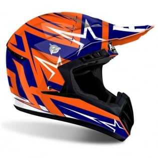 2018 Airoh Switch Helmet Startruck Blue Gloss Image 3