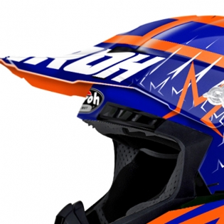 2018 Airoh Switch Helmet Startruck Blue Gloss Image 4