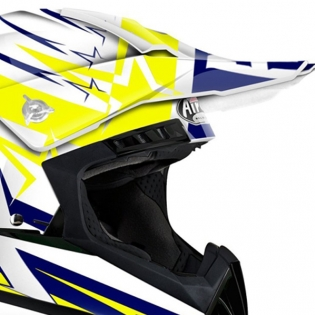 2018 Airoh Switch Helmet Startruck Yellow Gloss Image 2