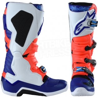 Alpinestars Tech 7 Boots - Ltd Troy Lee Designs Flo Red Blue White Image 2