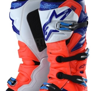 Alpinestars Tech 7 Boots - Ltd Troy Lee Designs Flo Red Blue White Image 3
