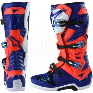 Alpinestars Tech 7 Boots - Ltd Troy Lee Designs Flo Red Blue White Image 4