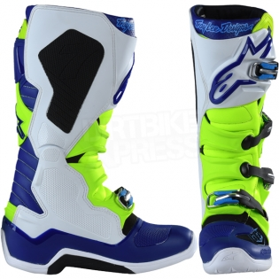 Alpinestars Tech 7 Boots - Ltd Troy Lee Designs Flo Yellow Blue White Image 2