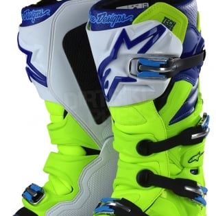 Alpinestars Tech 7 Boots - Ltd Troy Lee Designs Flo Yellow Blue White Image 3