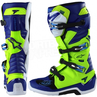 Alpinestars Tech 7 Boots - Ltd Troy Lee Designs Flo Yellow Blue White Image 4