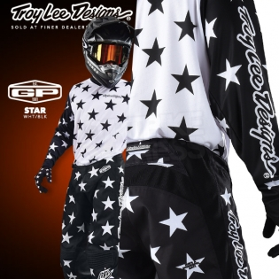 Troy Lee Designs GP Kit Combo - Star White Black Image 3