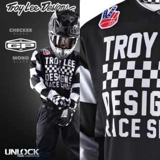 Troy Lee Designs GP Kit Combo - Checker Black Red Image 3