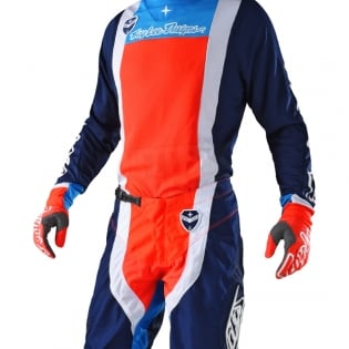 Troy Lee Designs SE Kit Combo - Squadra Navy Orange Image 2