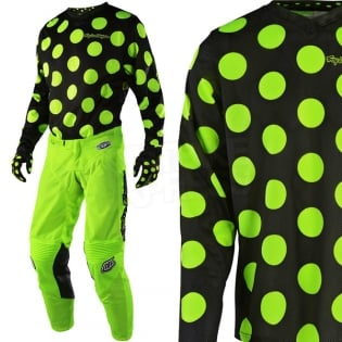 Troy Lee Designs GP Kit Combo - Polka Dot Flo Yellow Black Image 2