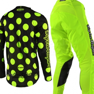 Troy Lee Designs GP Kit Combo - Polka Dot Flo Yellow Black Image 3