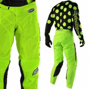 Troy Lee Designs GP Kit Combo - Polka Dot Flo Yellow Black Image 4