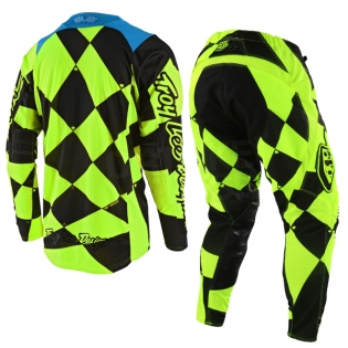 Troy Lee Designs SE Jersey - Joker Flo Yellow Black Image 3