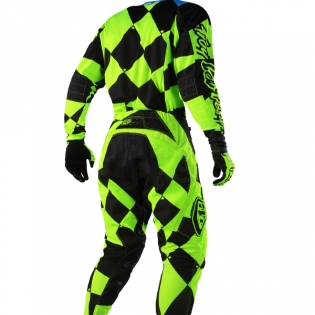 Troy Lee Designs SE Jersey - Joker Flo Yellow Black Image 4
