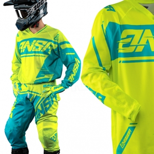 2018 Answer Syncron Air Jersey - Acid Blue Image 2