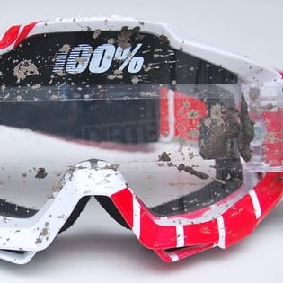 100% Strata Mud Goggles - Nation SVS Clear Lens Image 3