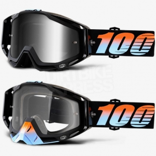 100% Racecraft Goggles - Starlight Mirror Lens Image 2