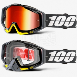 100% Racecraft Goggles - Fortis Mirror Lens Image 3