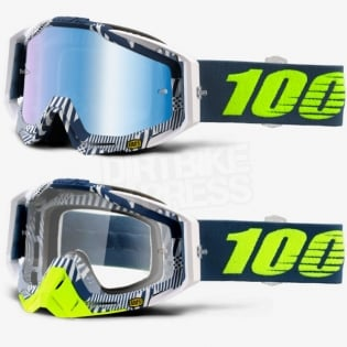 100% Racecraft Goggles - Eclipse Mirror Lens Image 2