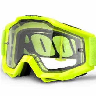 100% Accuri Goggles - Fluo Yellow Enduro Dual Lens Image 2