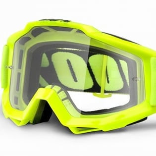 100% Accuri OTG Goggles - Fluo Yellow Clear Lens Image 2