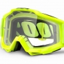 100% Accuri OTG Goggles - Fluo Yellow Clear Lens